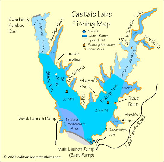 castaic lake fishing map Castaic Lake Fishing castaic lake fishing map