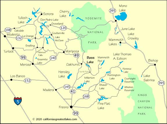bass lake california map Bass Lake California Directions bass lake california map