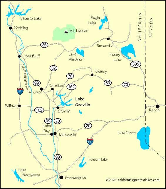 lake oroville camping map Lake Oroville Directions lake oroville camping map