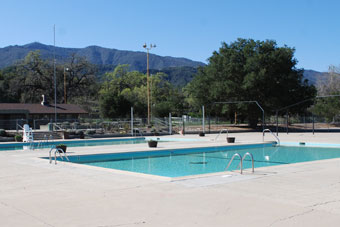 Photo of swimming pools at Cachuma Lake, Santa Barbara County, CA