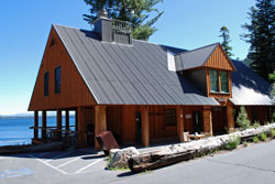 Photo of store and cafe at Fallen Leaf Lake, CA