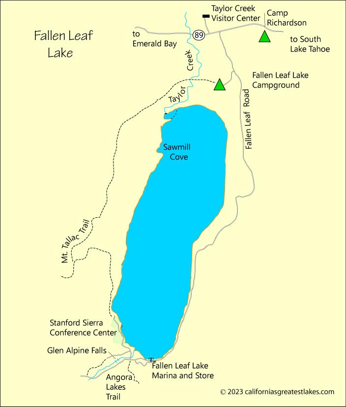 fallen leaf lake map Fallen Leaf Lake Map fallen leaf lake map